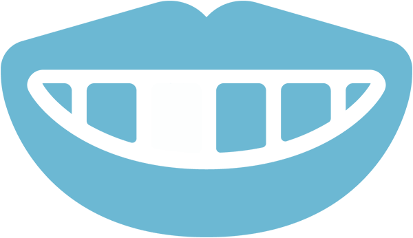 Brushing and flossing icon