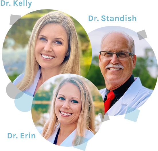 Dr. Standish, Dr. Kelly, and Dr. Erin